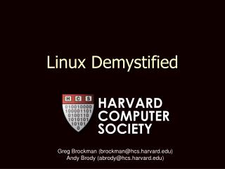 Linux Demystified