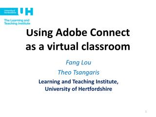 Using Adobe Connect  as a virtual classroom
