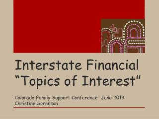 "Interstate Financial ""Topics of Interest"""