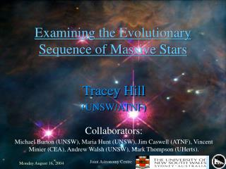 Examining the Evolutionary Sequence of Massive Stars