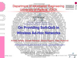 Department of Information Engineering University of Padova, ITALY