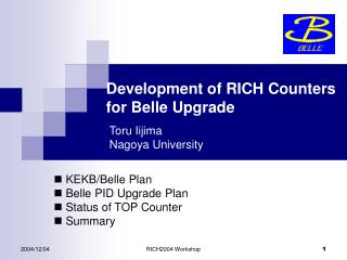 Development of RICH Counters  for Belle Upgrade