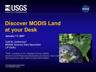 Discover MODIS Land  at your Desk
