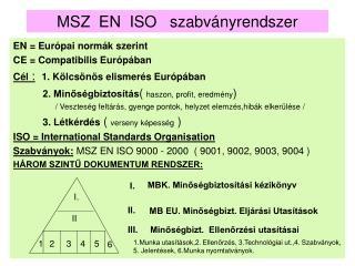 MSZ  EN  ISO   szabványrendszer