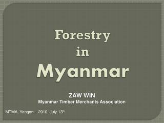 Forestry  in Myanmar