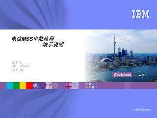 电信 MSS 审批流程 演示说明