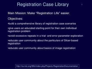Registration Case Library