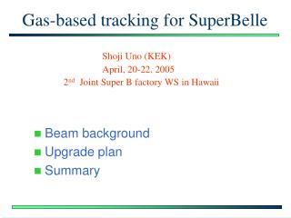 Gas-based tracking for SuperBelle