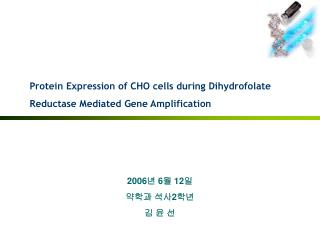 Protein Expression of CHO cells during Dihydrofolate Reductase Mediated Gene Amplification