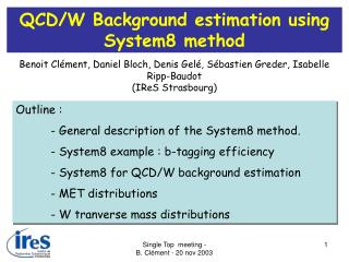 QCD/W Background estimation using System8 method