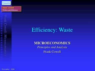 Efficiency: Waste