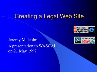 Creating a Legal Web Site