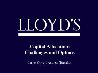 Capital Allocation: Challenges and Options