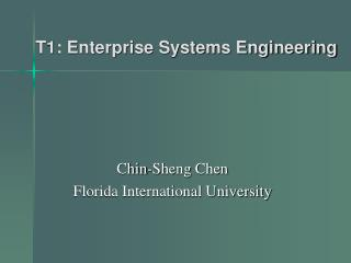 T1: Enterprise Systems Engineering