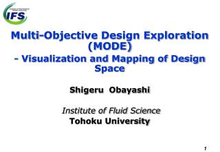 Multi-Objective Design Exploration (MODE) -  Visualization and Mapping of Design Space