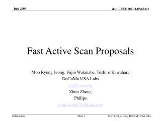Fast Active Scan Proposals