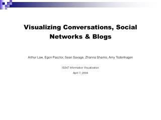 Visualizing Conversations, Social Networks & Blogs