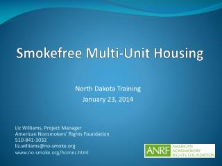 Smokefree Multi-Unit Housing