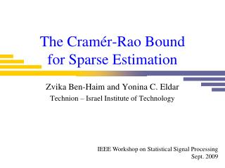 The Cramér-Rao Bound for Sparse Estimation