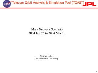 Mars Network Scenario  2004 Jan 25 to 2004 Mar 10 Charles H. Lee Jet Propulsion Laboratory