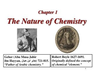 The Nature of Chemistry