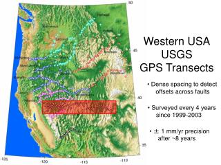Western USA USGS  GPS Transects