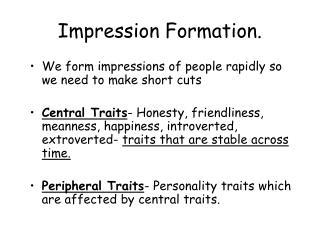 Impression Formation.