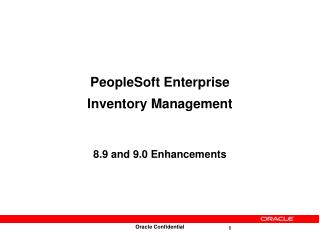 PeopleSoft Enterprise  Inventory Management