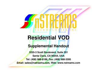 Residential VOD Supplemental Handout