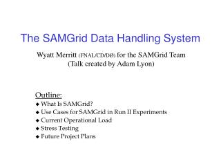 The SAMGrid Data Handling System