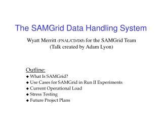 The SAMGrid Data Handling System