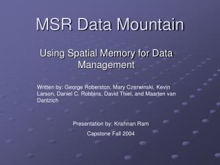 MSR Data Mountain