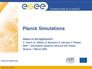 Planck Simulations