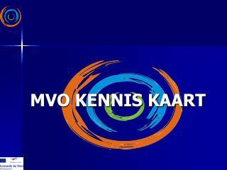 MVO KENNIS KAART