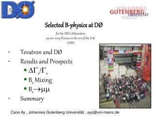 Cano Ay , Johannes Gutenberg Universität , ayc@uni-mainz.de