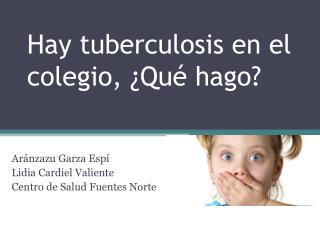 Hay tuberculosis en el colegio, ¿Qué hago?