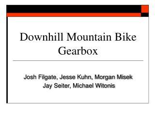 Downhill Mountain Bike Gearbox