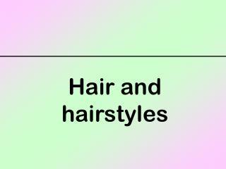 Hair and hairstyles a beard