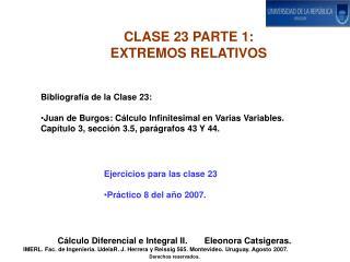 CLASE 23 PARTE 1:   EXTREMOS RELATIVOS