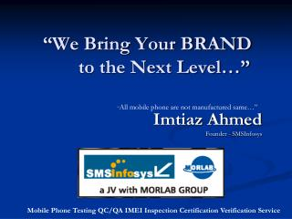 """We Bring Your BRAND        to the Next Level…"""