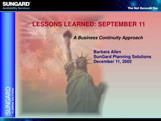 LESSONS LEARNED: SEPTEMBER 11