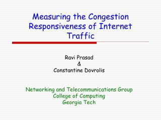 Measuring the Congestion Responsiveness of Internet Traffic