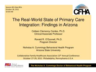 The Real-World State of Primary Care Integration: Findings in Arizona