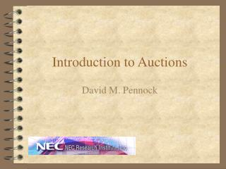 Introduction to Auctions