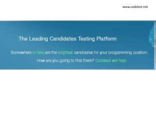 Test your candidates technical skill faster