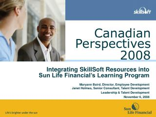 Integrating SkillSoft Resources into Sun Life Financial's Learning Program