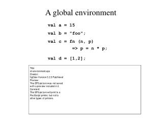A global environment