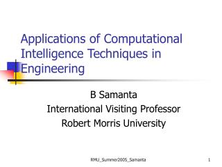 Applications of Computational Intelligence Techniques in Engineering
