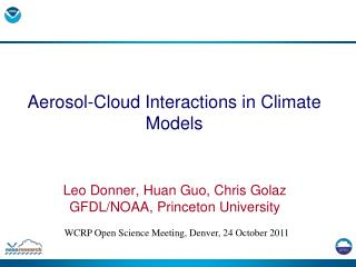Aerosol-Cloud Interactions in Climate Models