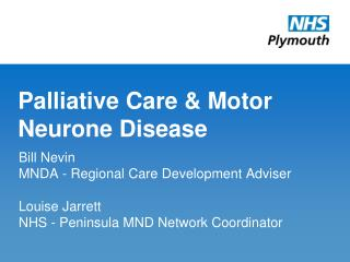 Palliative Care & Motor Neurone Disease